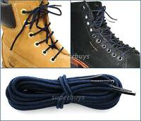"Navy Blue 90cm Long Hiking Trekking Shoe Work Boot Laces Trek Hike 36"" - 3 Eyes"
