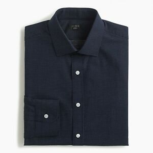 J.Crew Dress Shirt Mens Ludlow Slim Fit Stretch Easy-Care Casual Long Sleeves