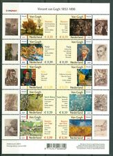Nederland NVPH V2142-2151 van Gogh Fr. waarde € 3.90