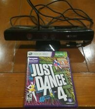 MICROSOFT XBOX 360 KINECT SENSOR BAR MODEL 1414 WITH JUST DANCE 4 GAME TESTED