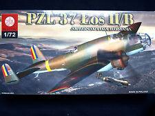 PZL 37  ŁOŚ II/B, BOMBER AIRCRAFT, AERONAUTICA ROMANA, ZTS PLASTYK, SCALE 1/72