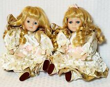 "J.Misa Collection Jmisa 8"" Pair of Lovely Angels Love Porcelain dancing Dolls"