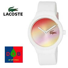 *Low Price* Lacoste Goa 2020107 Pink Dial White Strap Womens Ladies Girls Watch