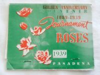 1939 Pasadena Tournament of Roses Souvenir Folding Postcard & FREE GIFT!