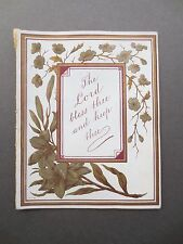 Antique NEW YEAR Card Religious Text Romantic Paper Lace Insert Forget Me Not
