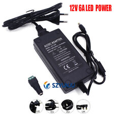 12V 6A 6 Amp 72W Detective Transformador Adaptador Para Fonte De Alimentação Led Fita De Luz Eua/UE/Reino Unido/AU