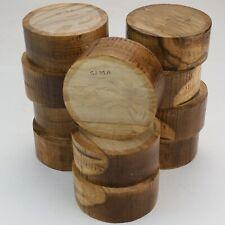 "11 English Holm Oak wood turning bowl blanks. 105 x 45-48mm. (4 x 1 1/2""). 5239A"