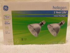 Floodlight Bulbs 2 pk GE Energy Efficient Halogen 60 Watt PAR30L Replaces 75 W