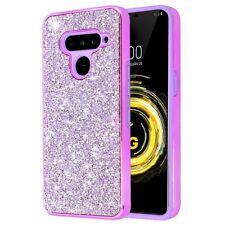 Desire Mosaic Crystal Hybrid Case for LG V50 ThinQ - Purple