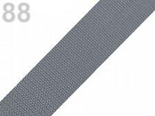 2 Meter Taschengurt - Gurtband aus Polypropylen - 30 mm - grau