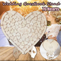 Personalised 76 Hearts Love Wooden Drop Box Rack Wedding Guest Book Couple Decor