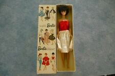 VINTAGE BARBIE BRUNETTE BUBBLE HAIR DOLL/ W/ RED&WHITE DRESS
