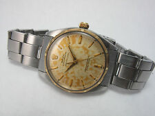 ROLEX VINTAGE TWO TONE OYSTER PERPETUAL RARE SERPICO Y LAINO DIAL REF 1004