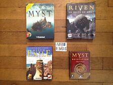 Lot Myst 1-2-3-4 Riven/Exile/Revelation (Point & Click) PC Big Box carton FR