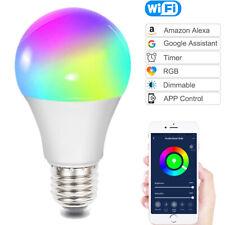 RGB LED Smart Colour Light Bulb 10W B22 WiFi App Control with Alexa and Google