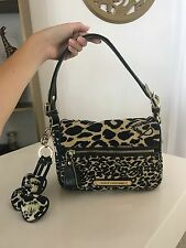 Juicy Couture Bag Velour Leopard Print Satchel Heart Charms
