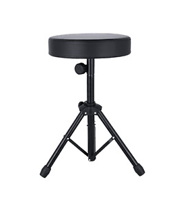 Drum Stool Throne Seat Thread Style Heavy Duty Padded Thick Top Adjustable