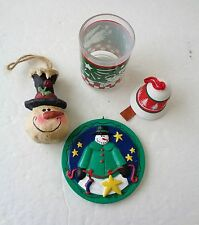 Lot Of Christmas Ornaments & Votive Candle Holder ~ New