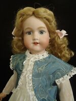 """18"""" tall c1920 Morimura Dolly face bisque head doll in Vintage dress"""
