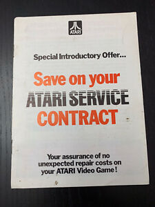 """Atari 2600 Insert Special Offer Vintage Ad """"Save on your Atari Service Contract"""""""