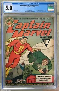 Captain Marvel Adventures #22 (1943) CGC 5.0 -- 1st Mr. Mind (voice); Hitler app