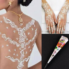 Practical White Temporary Tattoo kit Natural Herbal Henna Cones Body Art Paint