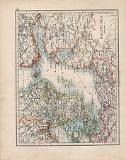 1901 VICTORIAN MAP ~ BALTIC SEA ~ SWEDEN DENMARK RUSSIA GOTHLAND