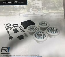 Roswell Marine R1 In-Boat Package White Speakers With RGB Controller