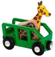 Brio GIRAFFE & WAGON Wooden Toy Train BN