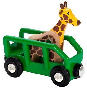 Brio GIRAFFE & WAGON Child Wooden Toy Train Track Accessory Green 3 yrs+ Gift BN