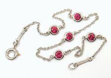 """Mint! Tiffany & Co Peretti Platinum 950 Ruby Color By The Yard Bracelet 7"""""""