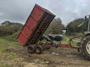 WEEKS 8 TON FARM TIPPING TRAILER FOR MANURE SMALL HOLDING / HORSE YARD
