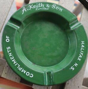 rare Alexander Keith's porcelain ashtray Halifax NS