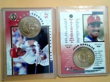 JUAN Igor GONZALEZ Texas Rangers 1998 BEISBOL Card+Medal Vega Baja Puerto Rico