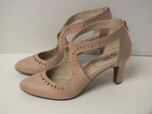 Genuine LifeStride Giovanna Perforated Micro-Suede Pumps Heels Size 10M -Blush