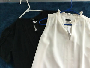 Ann Taylor Black And Cream Blouses Size Small New With Tags