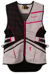 Browning Ace Shooting Vest for Her - Pink 2X (VBR512-PNK-2X-EB-07)