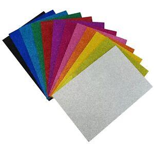 Allgala 12PK EVA Glitter Sheets for Arts and Crafts, Cosplay