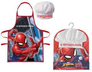 Official Marvel Spider-Man Apron Set Kids Children Christmas Baking Gift 3-8 Y