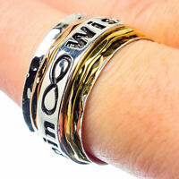 Meditation Spinner 925 Sterling Silver Ring Size 7.75 Ana Co Jewelry R26723F