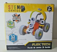 Stem Genius Flexible 3D Car Puzzle Building Material with 53 Pieces