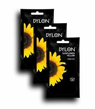 DYLON Sunflower Yellow Hand Fabric Dye 3 Pack