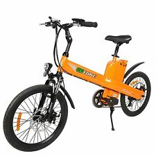 350W Electric City Moped Bicycle E bike Pedal-Assist W/ Li-ion Battery Orange