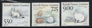 Greenland 1994 Polar Animals set Sc# 270-72 NH