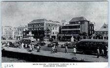 Otrobanda WILLEMSTAD, Curacao N.W.I. ~ BRION SQUARE Street Scene c1940s Postcard