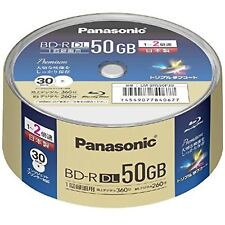 30pc Panasonic 3D Blu-ray 50GB 2X Made in Japan BD-R HD Inkjet Printable F/S NEW