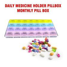 28 Squares Daily Medicine Holder Pillbox Monthly Pill Box Organizer Dispenser