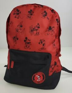 Disney Store Mickey Mouse Backpack NEW With Tags Red