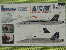 """1/48  TwoBobs 48-091 F/A-18C HORNET """"BLUE BY YOU HORNETS"""" VFA-83 & VFA-113"""