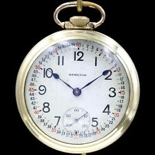 BIG 10k Gold 1911 Hamilton 21 Jewel RAILROAD Grade 940 Pocket Watch Heavy 18s